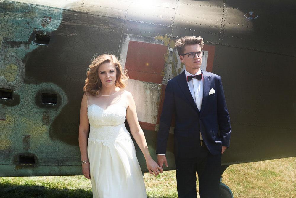 sesja ślubna Muzeum Lotnictwa