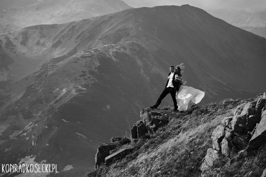 sesja ślubna w Zakopanem zdjęcia Kasprowy Wierch