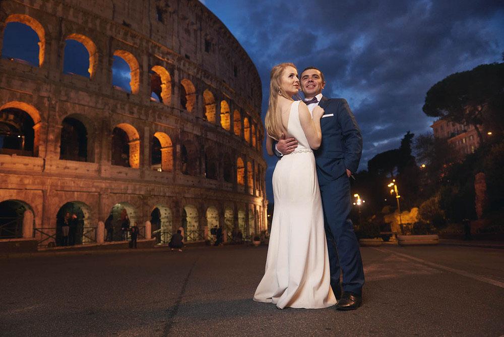 plener ślubny Rzym Koloseum